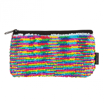 Rainbow / Silver Magic Sequin Mini Pencil Pouch