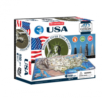 USA 4D Cityscape History Over Time Puzzle