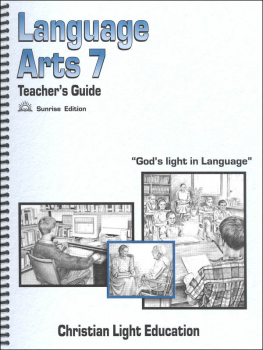 Language Arts 700 Teacher's Guide Sunrise Edition