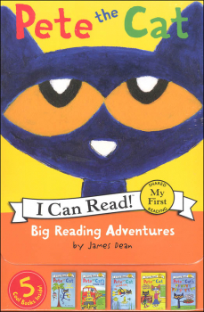 Pete the Cat: Big Reading Adventures: 5 Far-Out Books in 1 Box! (I Can Read! My First)