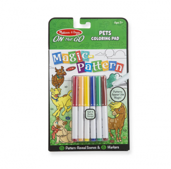 Magic-Pattern Coloring Pad On the Go Pets