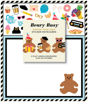 Beary Busy Design Your Own Sticker Notecards