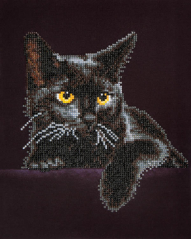 Midnight Cat Diamond Dotz Kit (Intermediate)