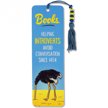 Books. Helping Introverts Avoid Conversation Since 1454 Beaded Bookmark