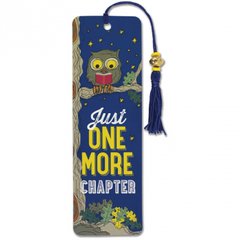 Just One More Chapter Beaded Bookmark