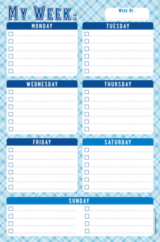 My Week Daily Note Pad (60 sheets)
