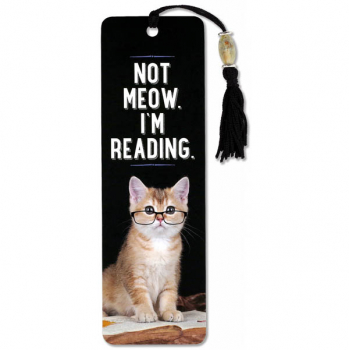Not Meow. I'm Reading Beaded Bookmark