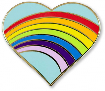 Rainbow Heart Enamel Pin