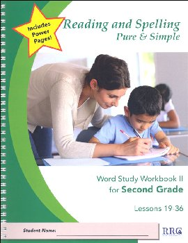 Word Study Workbook II - Second Grade (Lessons 19-36)