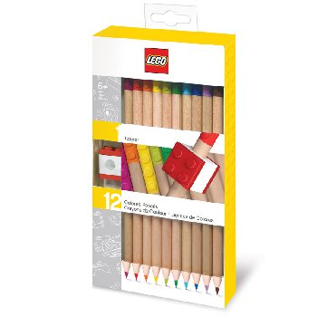 LEGO Colored Pencil with Topper (12 pack)