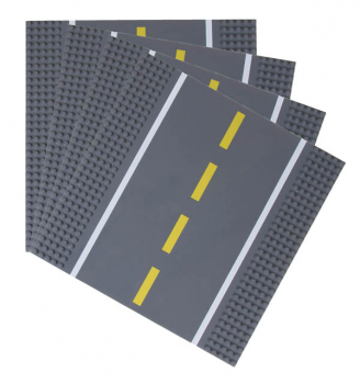 Stackable Road Baseplates - 4 Straight