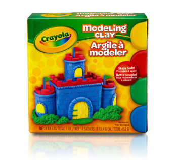 Crayola Modeling Clay: Four 1/4 lb. pieces - Red, Yellow, Blue, Green