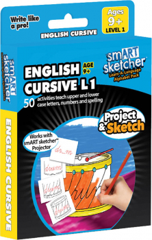 smART Sketcher Learn-A-Language Alphabet Pack English Cursive Level 1 Ages 9+