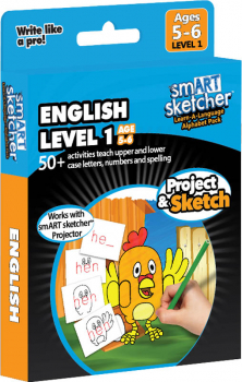 smART Sketcher Learn-A-Language Alphabet Pack English Level 1 Ages 5-6