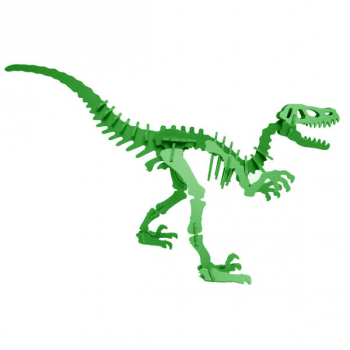 Moe the Velociraptor 3D Puzzle - Green