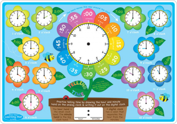 Telling Time Smart Poly Learning Mat