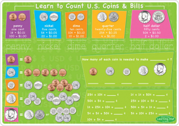 U.S. Money & Coins Smart Poly Learning Mat