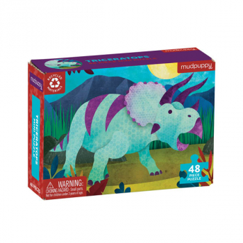 Triceratops Mini Puzzle (48 pieces)