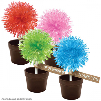 Crystal Lollipop Tree (assorted color & greeting)