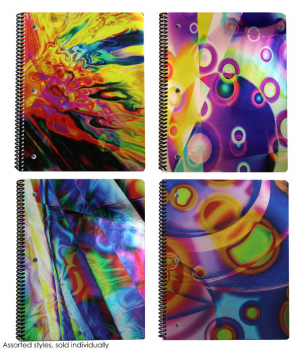 Color Slicks Foil 1 Subject Spiral Notebook