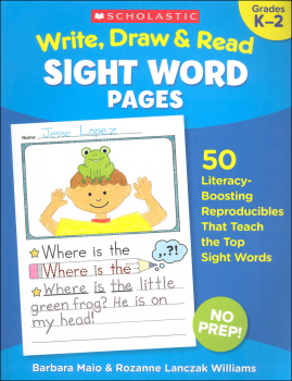 Write, Draw & Read - Sight Word Pages