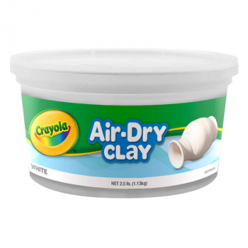 Crayola Air Dry Clay Resealable Bucket - White 2.5 lb
