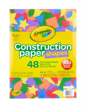 Crayola Construction Paper Shapes 48 Count