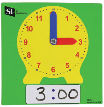 Dry Erase Clock - Student (set of 10)