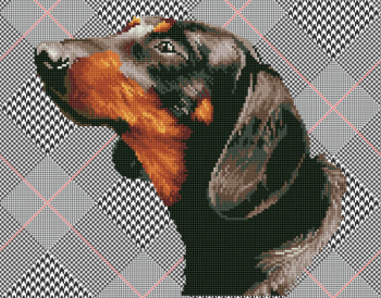 Noble Dachsie Diamond Dotz Kit (Intermediate)