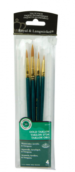 Gold Taklon Brush Set Value Pack (4 piece)
