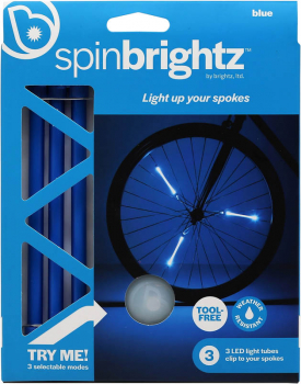 Spin Sport Brightz Bike Lights - Blue