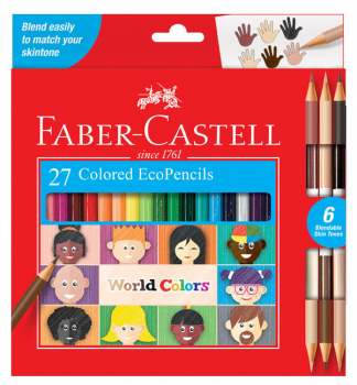 World Colors Eco Pencils - set of 27