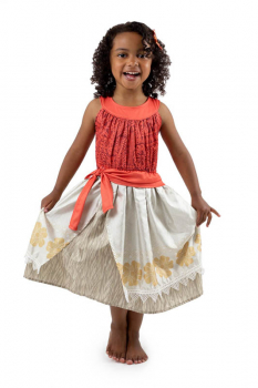 Polynesian Princess Dress with Hair Clip - Ages 11-13