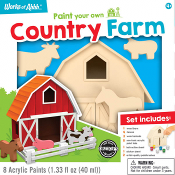 Paint Your Own Country Farm Premium Paint Kit
