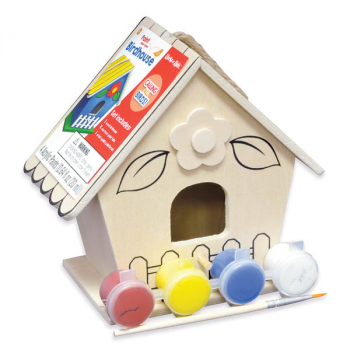 Paint Your Own Flower Birdhouse Small Craft Kit