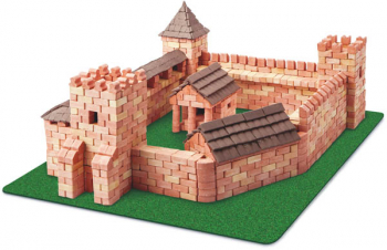 Red Castle 1800 Piece Mini Bricks Construction Set