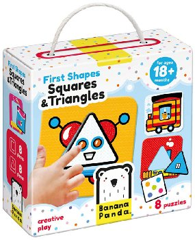 First Shapes Puzzle - Squares and Triangles