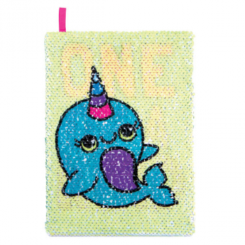 Magic Sequin Narwhal / One of a Kind Reveal Journal
