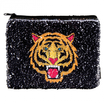 Tiger / Fierce Reveal Magic Sequin Pouch