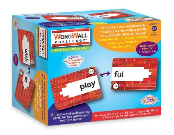 Mind Sparks WordWall Challenge Card Game - Prefixes & Suffixes