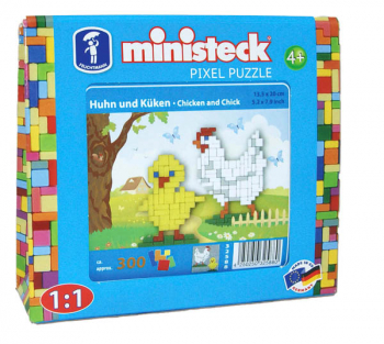 Ministeck Pixel Puzzle Hen and Chick