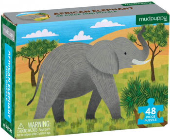 African Elephant Mini Puzzle (48 pieces)