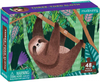 Three-Toed Sloth Mini Puzzle (48 pieces)