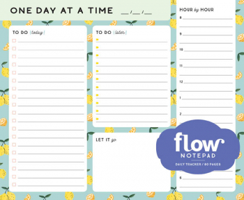 One Day at a Time Daily List Pad