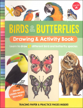 Birds & Butterflies Drawing & Activity Book
