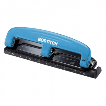 Bostitch-PaperPro inPRESS 12 Sheet Compact 3-Hole Punch - Blue