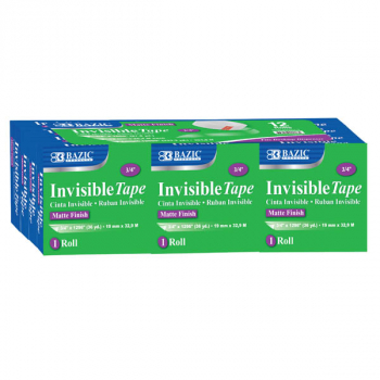 "Invisible Tape Refill 3/4"" x 1296"" - 12 pack"