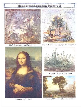 Classical Approach Masterpiece Lesson Cards Part V Landscape Painters 17th, 18th, & 19th Centuries