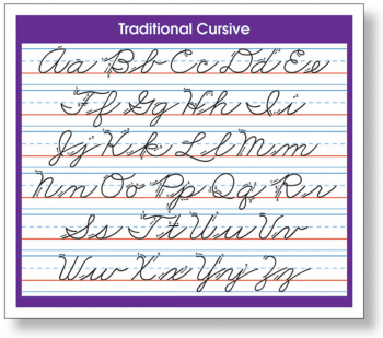 Traditional Cursive (Adhesive Desk Prompt)