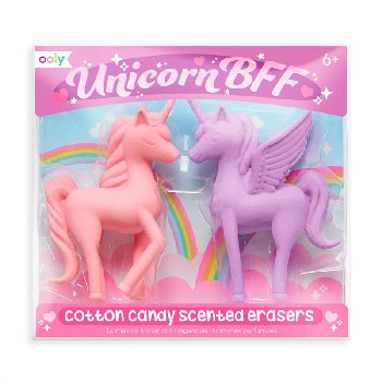 Unicorn BFF Scented Erasers - Cotton Candy